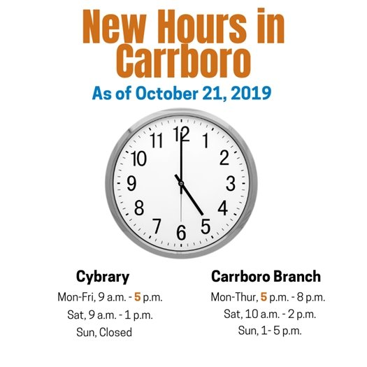 Carrboro changes hours