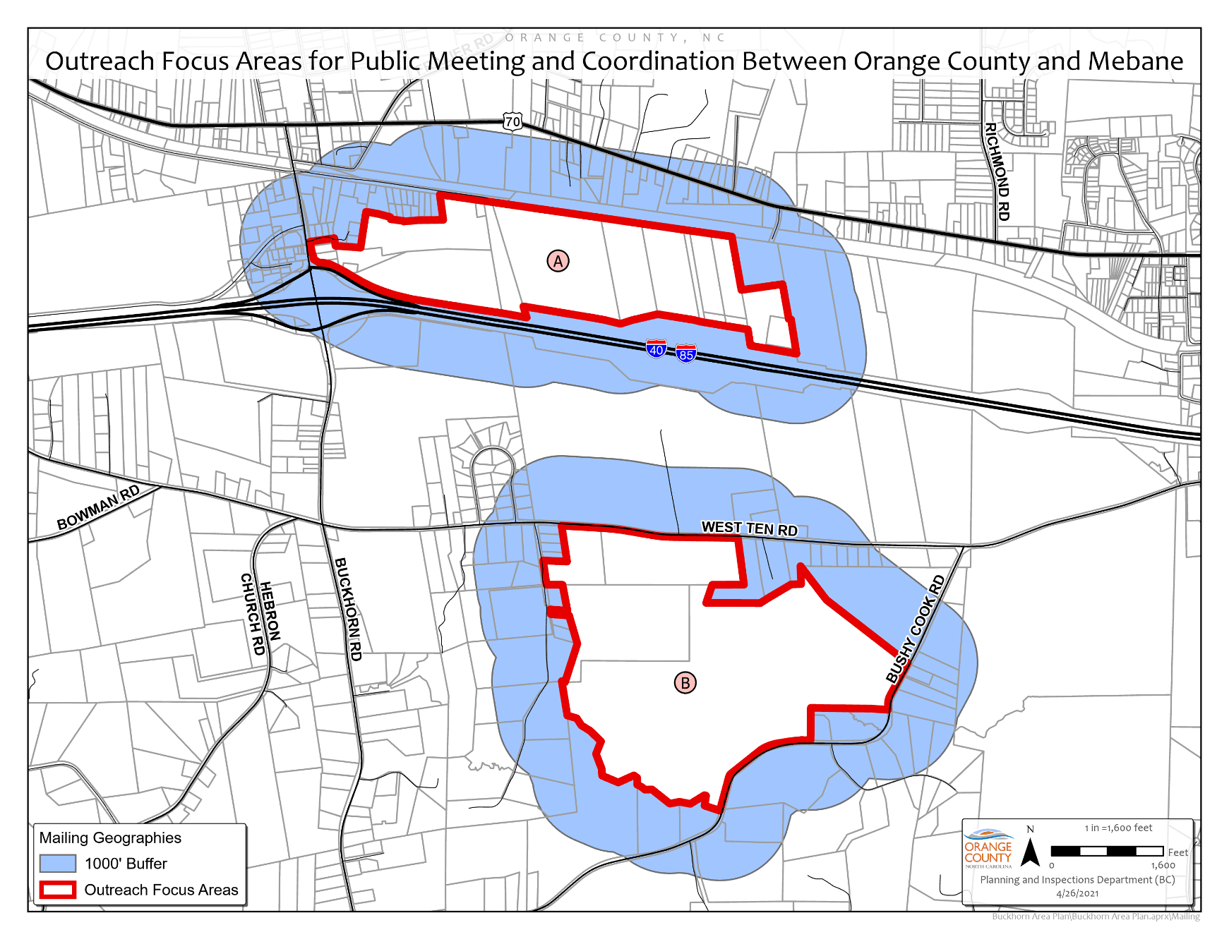 Buckhorn Area Plan map