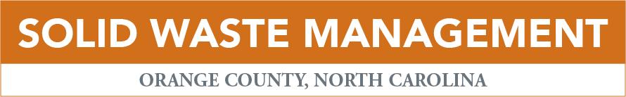 Solid Waste Management Orange County Nc