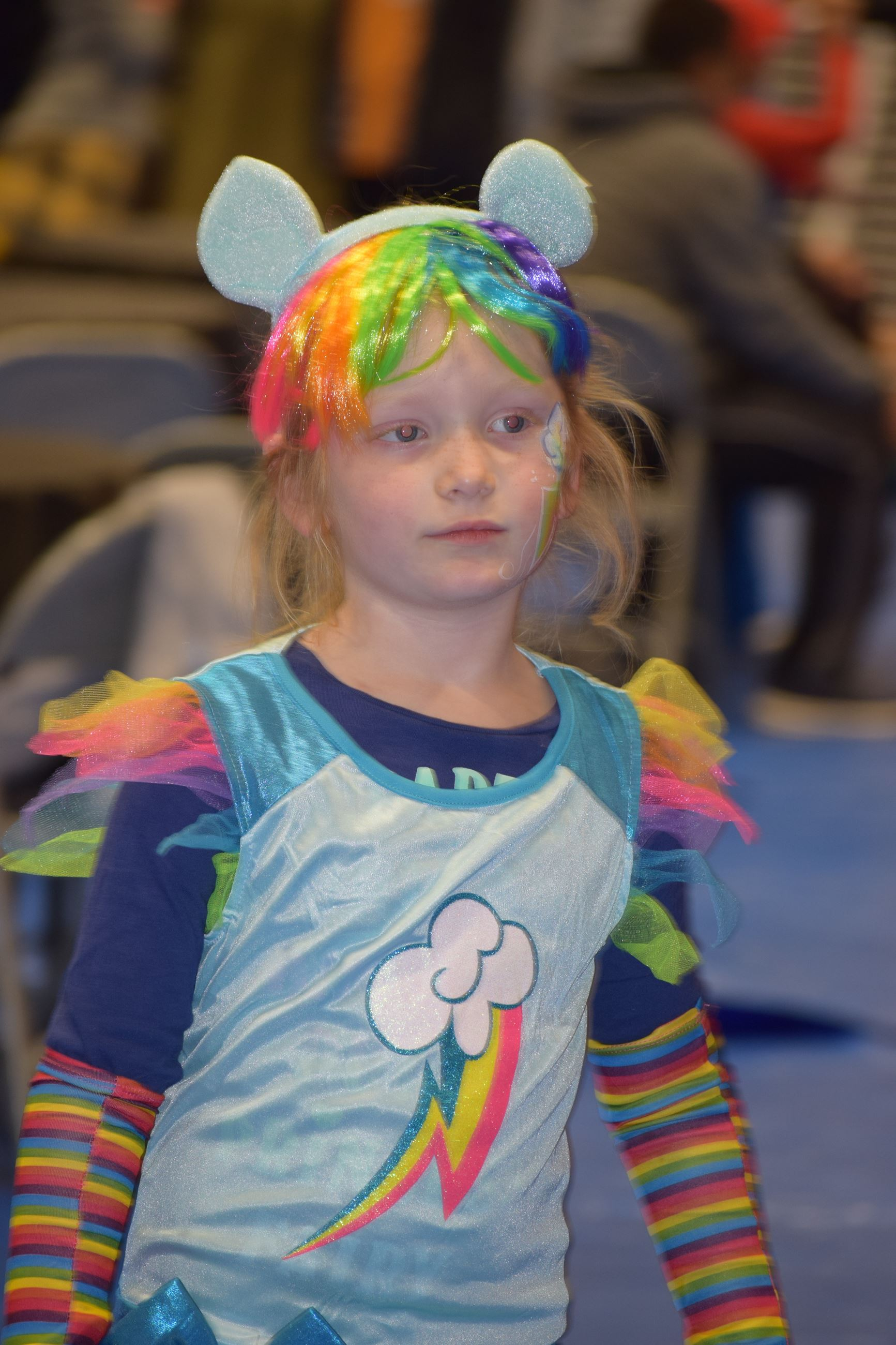Girl in unicorn costume