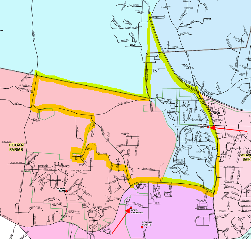 Map of proposed new precinct in Rogers Road area