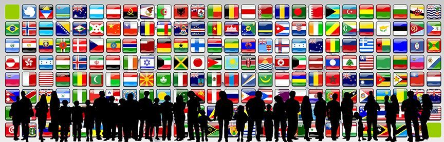 Multinational Flags Banner for Multilingual Resources Page