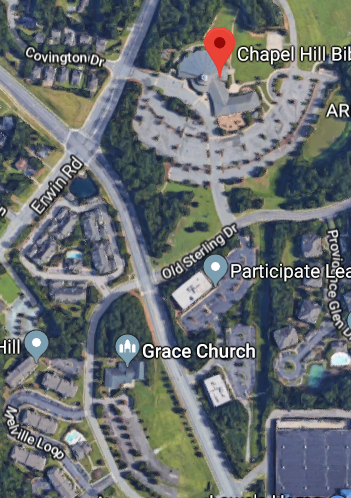 map of Chapel Hill Bible Church